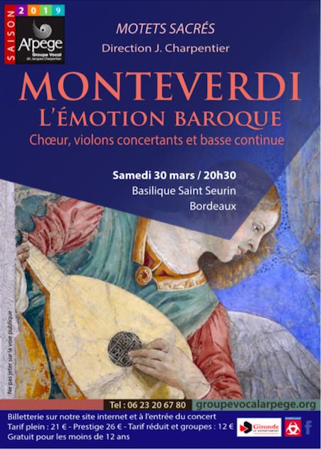 Concert Monteverdi – l'émotion baroque