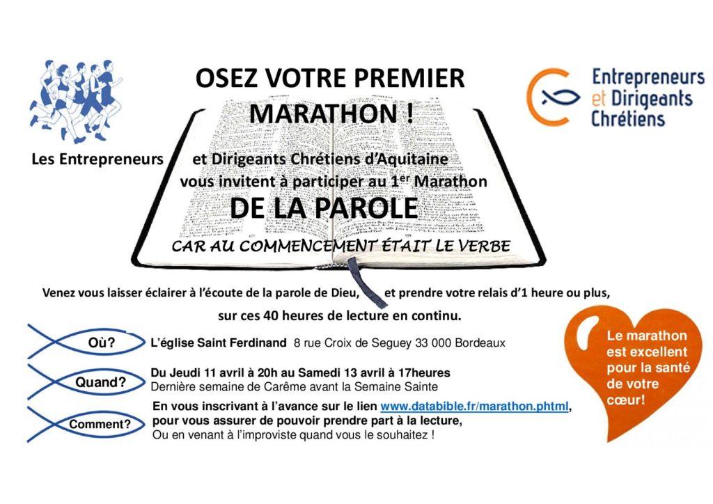 1er Marathon de la Parole à Saint Ferdinand !
