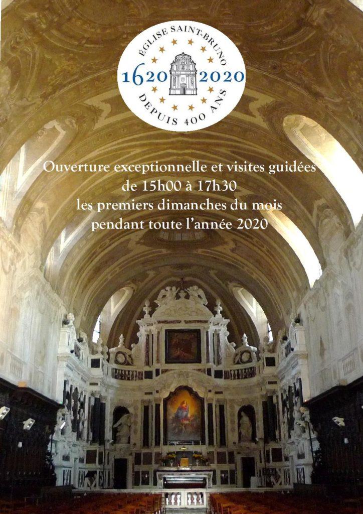 400 ans de l'église Saint-Bruno et visites guidées
