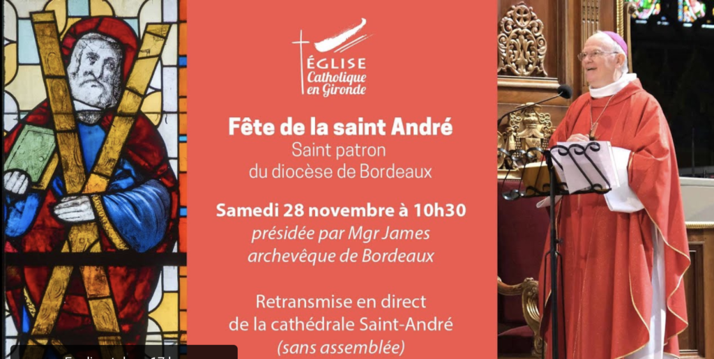 Messe de la Saint André retransmise – samedi 28 novembre à 10h30