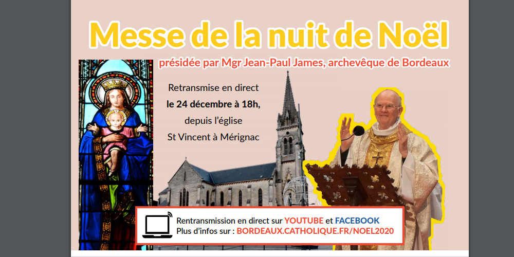 Messe de la nuit de Noël célébrée par Monseigneur James