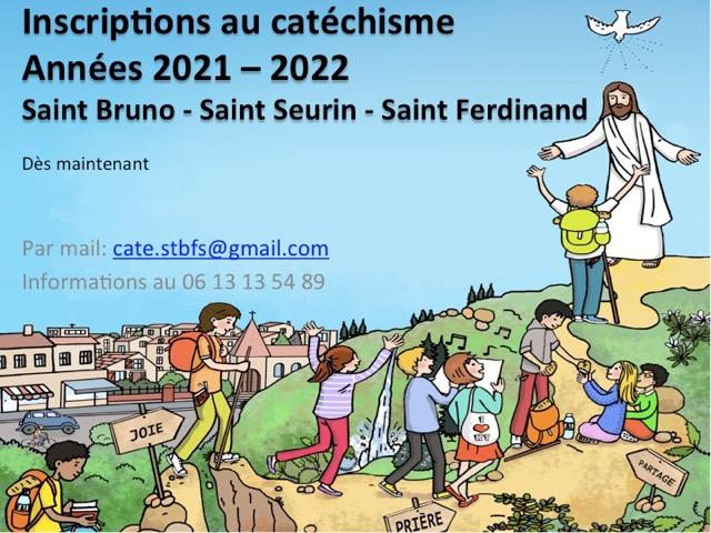 Catéchisme pour les enfants du CP au CM2 en 2021-2022