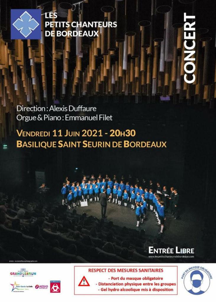 Concert le 11 juin à Saint Seurin